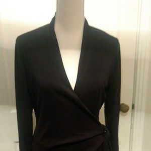 Carolyn Vaile Ladies Black Wrap Dress